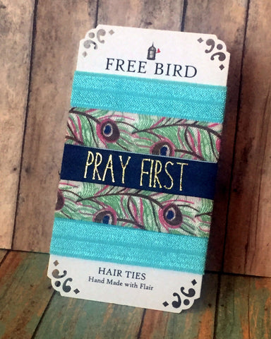 Free Bird Pray First Hair Ties