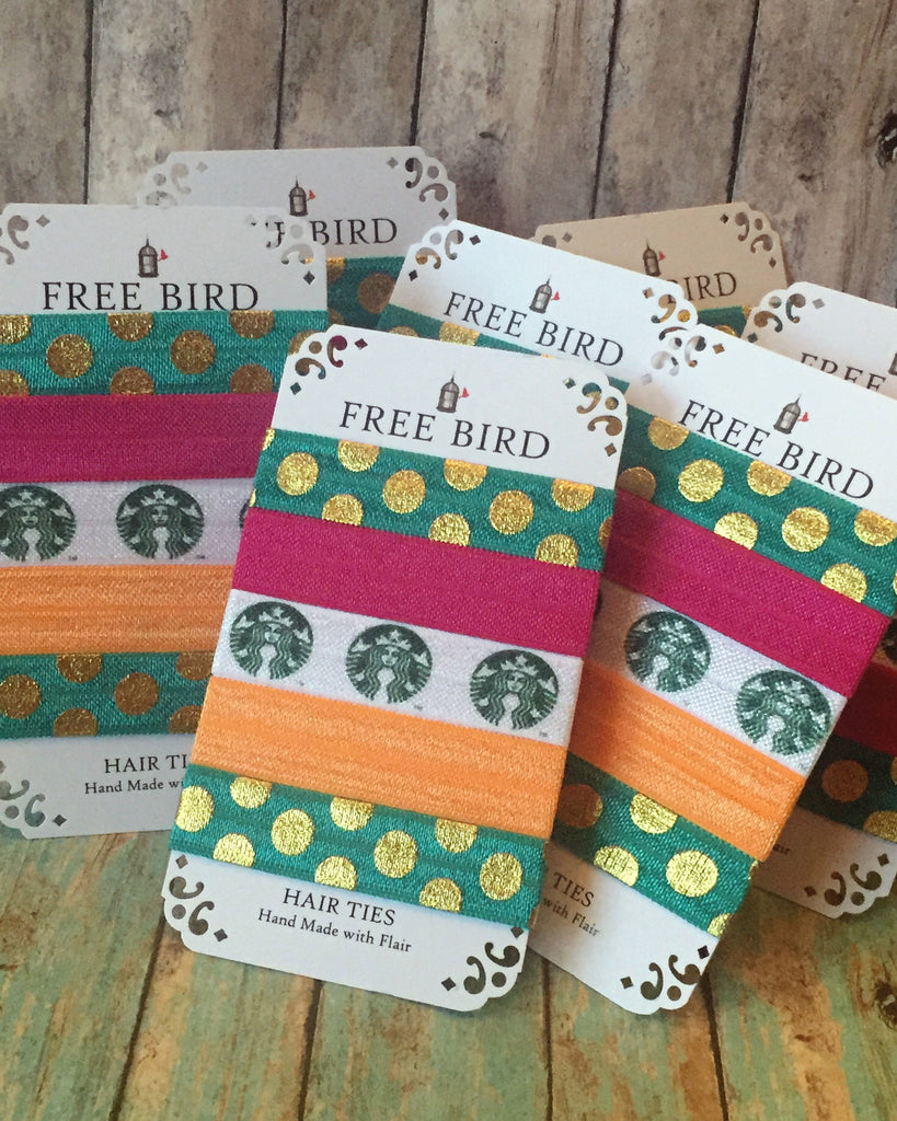 Free Bird Starbucks Lovers Hair Ties