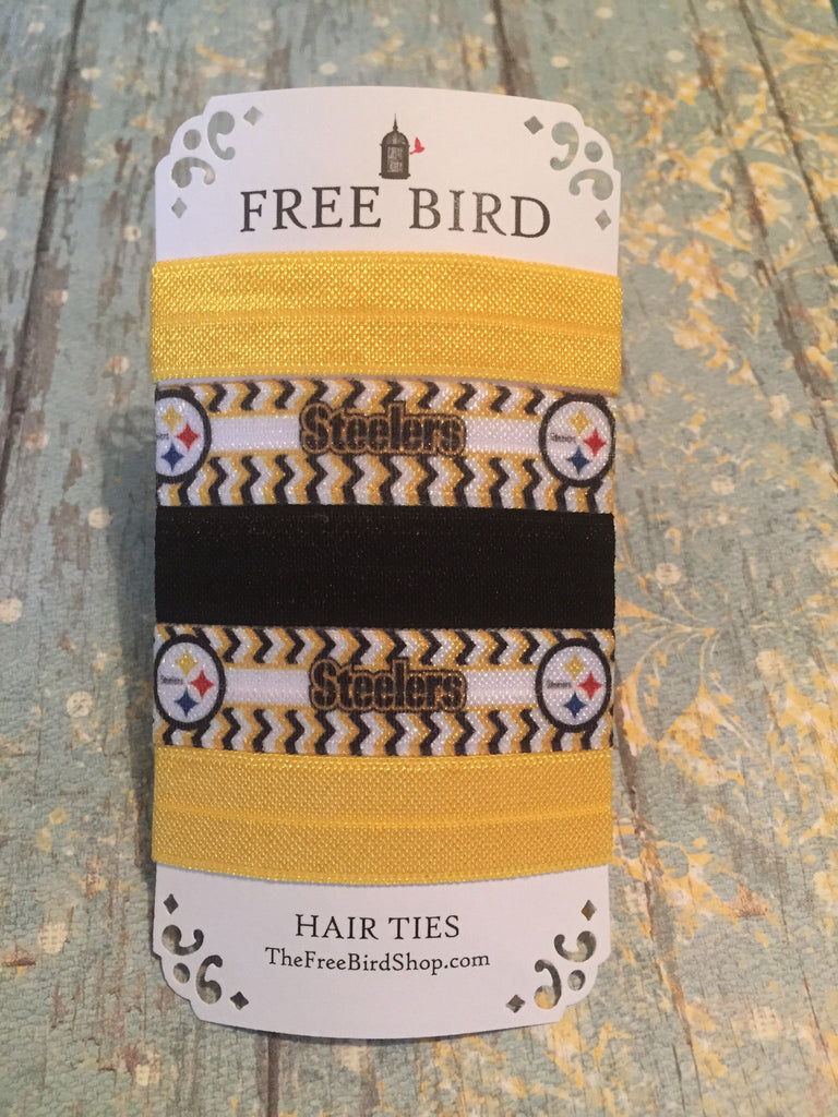 Steelers Hair Ties