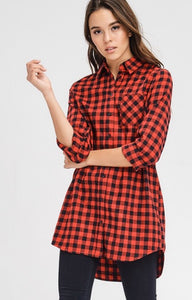 Red Buffalo Checked Tunic