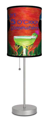 Parrot head margarita It's 5 O'Clock somwehere art table lamp
