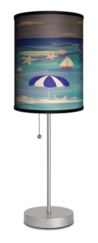 Beach art table lamp