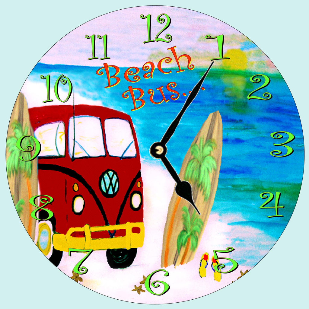 VW Beach Bus - Art Gifts by the Beach