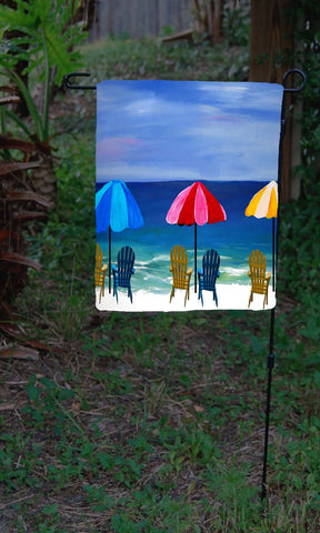 Beach umbrellas garden flag