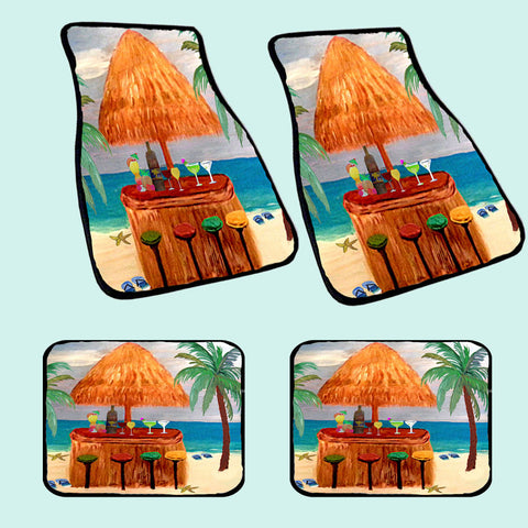 Beach Tiki Bar Art Car Mats
