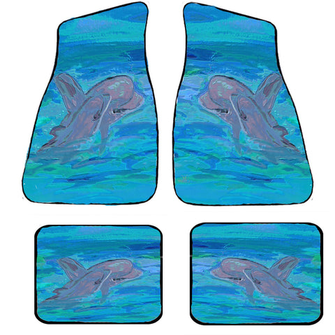 Dolphins Beach Art Car Floor mats