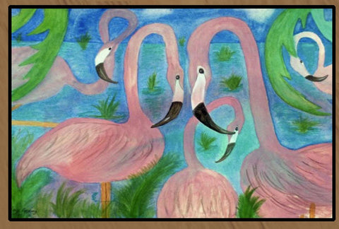 Flamingo Party art