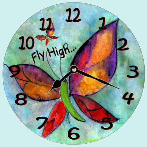 Fly High Butterfly Wall clock