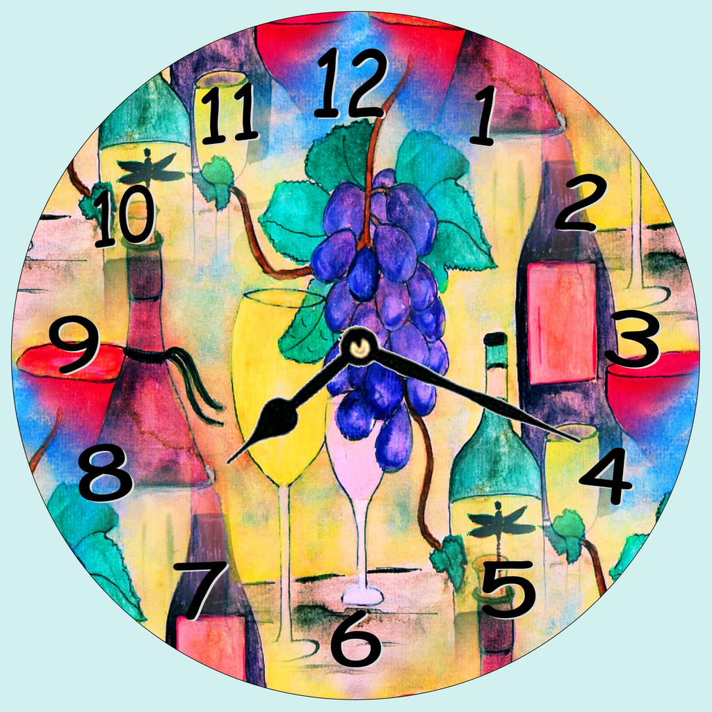 Grape Escape Wall clock – Art Gifts by the Beach
