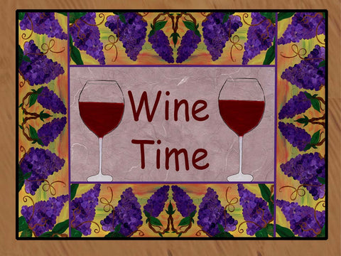Grapes and Wine Bar Floor Mat