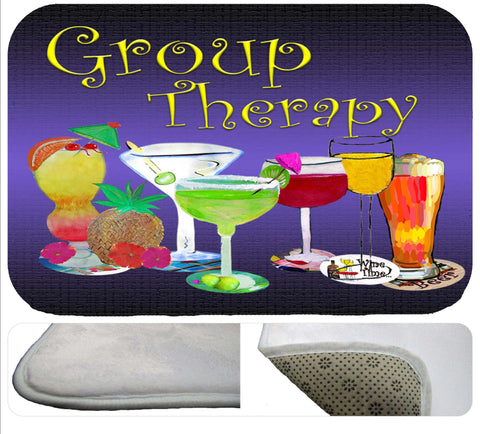 Group therapy bath tub or shower bath mat