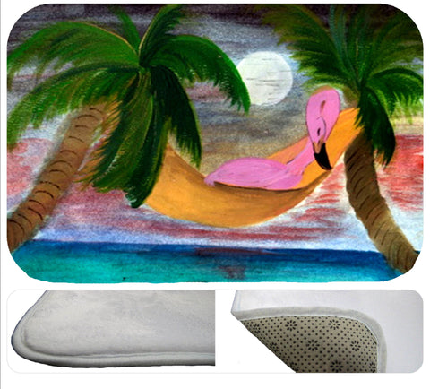 Lazy flamingo soft non-skid floor mat