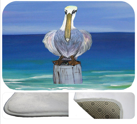 Looney pelican beach soft non-skid floor mat