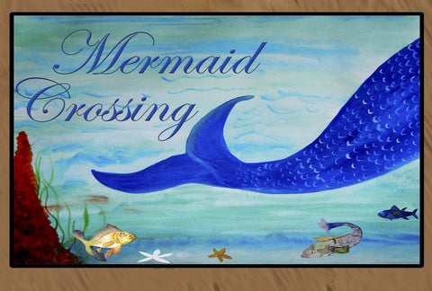 Mermaid Crossing Floor Mat