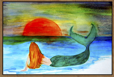 Sunset Mermaid Floor Mat