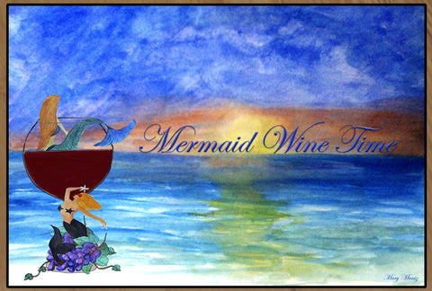 Mermaid Wine Time