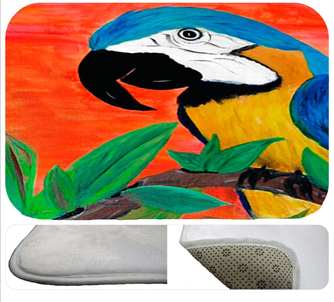 Parrot head soft non-skid rug