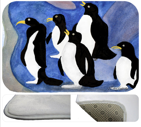 Penguins wild bird soft rug