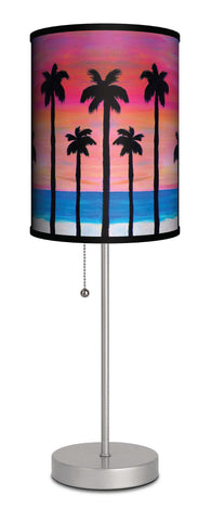 Pink sunset beach accent lamp