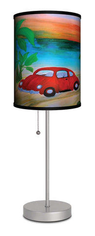 Red VW beach house accent lamp