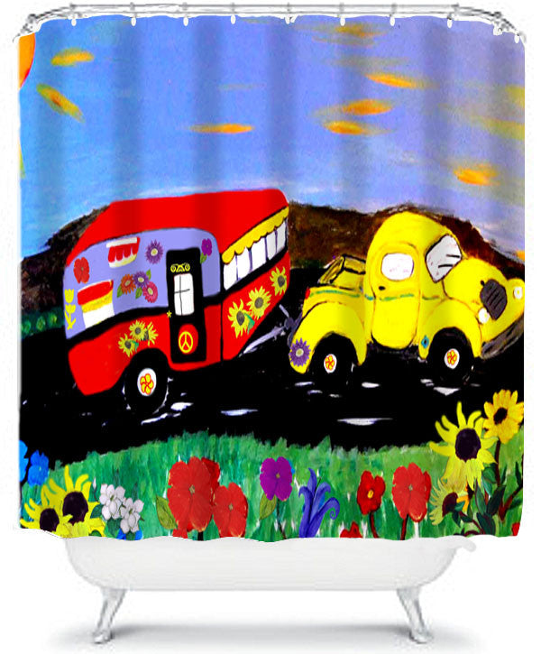 It's how we roll retro camper and truck camper shower curtain - Art Gifts by the Beach