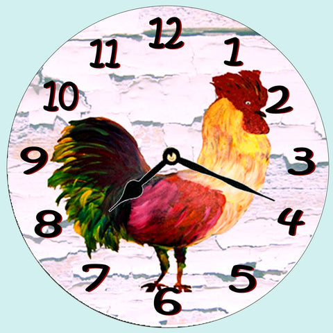 Barn Rooster Wall clock