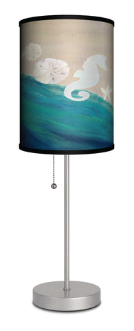 Ocean art sea shells accent lamp