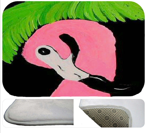 Shy flamingo soft non-skid rug