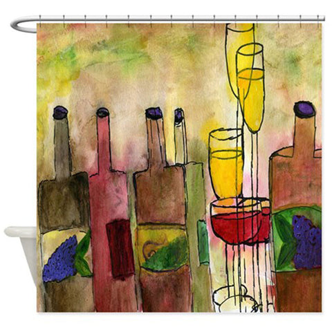 Tuscany wine bar shower curtain