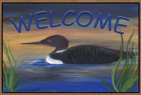 Loon Lake Welcome Floor Mat