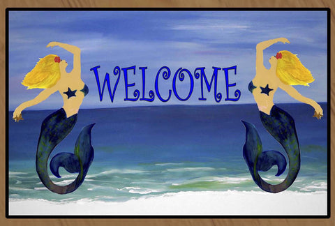 Mermaids Welcome Floor Mat