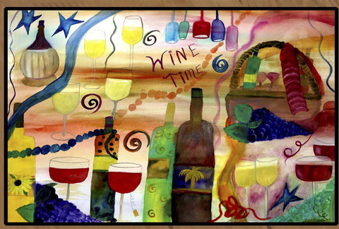 Wine Time Floor mat