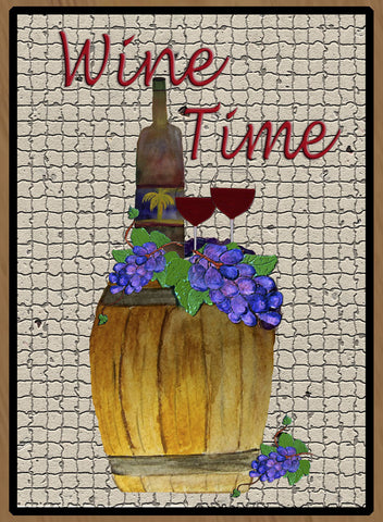 Wine Time Oak Barrel