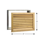 Load image into Gallery viewer, Stainable Architectural Series A/C Return Grilles - Worth Home Products