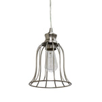 Load image into Gallery viewer, Hard Wired Series 1-Light polished Nickel Pendant with Metal Cage - Worth Home Products