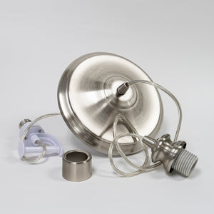 Instant Pendant Recessed Light Converter - Brushed Nickel Adapter only PBA-0030 - Worth Home Products