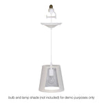 Load image into Gallery viewer, Instant Pendant Recessed Light Converter - White Lamp Shade Adapter only PAN-4300 - Worth Home Products