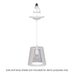 Instant Pendant Recessed Light Converter - White Lamp Shade Adapter only PAN-4300 - Worth Home Products