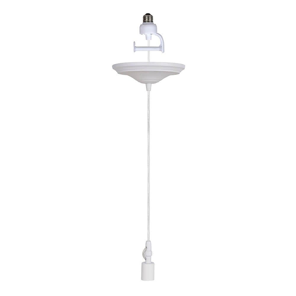 Instant Pendant Recessed Light Converter - White Lamp Shade Adapter only PAN-4311 - Worth Home Products