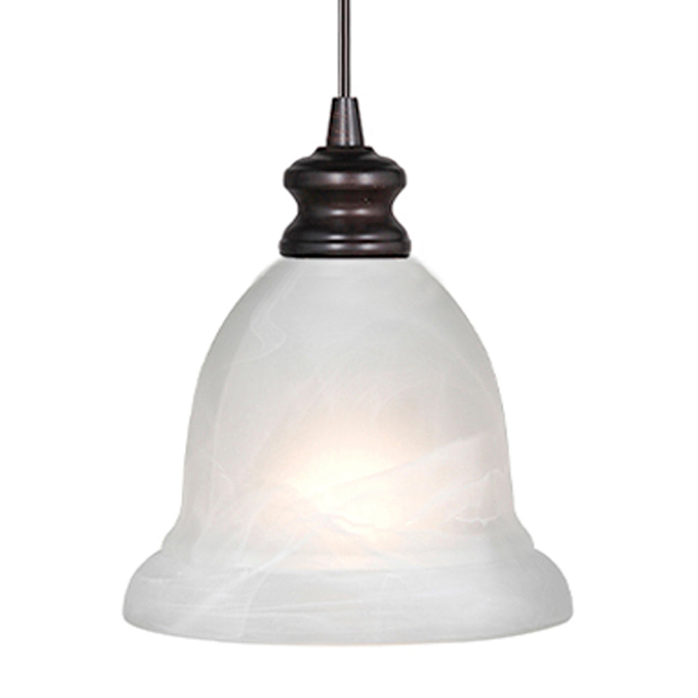 Instant Pendant Light with White Alabaster Small Bell Shade