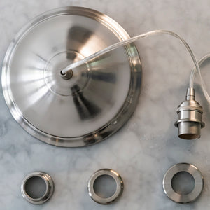 Instant Pendant Recessed Light Conversion - Brushed Nickel Vintage Adapter only PBA-8202 - Worth Home Products