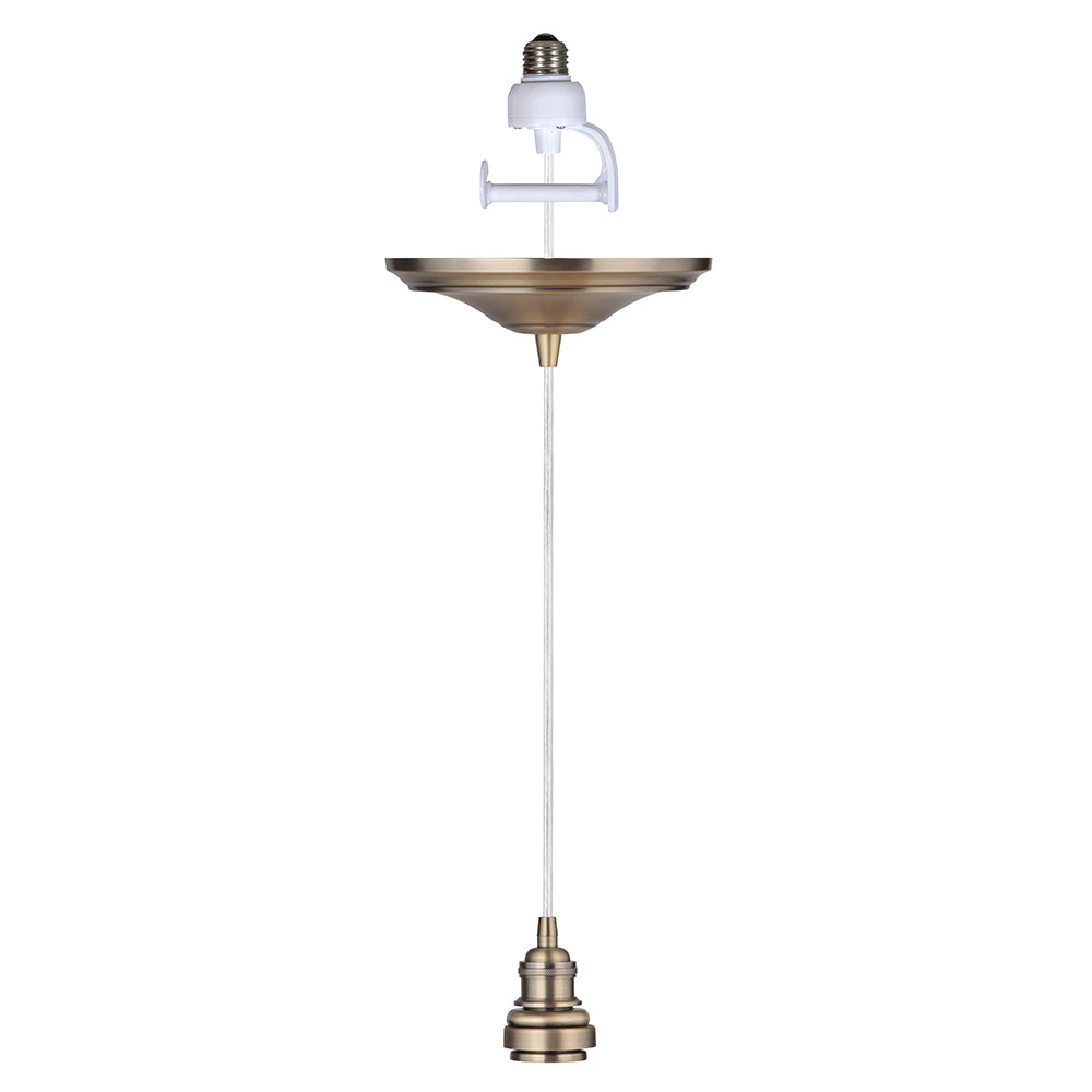 Instant Pendant Recessed Light Conversion - Brushed Brass Vintage Adapter only PBA-8303 - Worth Home Products