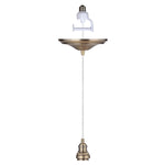 Load image into Gallery viewer, Instant Pendant Recessed Light Conversion - Brushed Brass Vintage Adapter only PBA-8303 - Worth Home Products