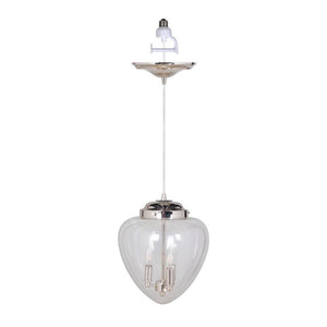 Instant Pendant Recessed 3 Light Conversion Kit Polished Nickel Mini Chandelier PBC-1131 - Worth Home Products