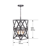 Load image into Gallery viewer, Hardwired Pendant Series 5-Lights Brushed Bronze Mini Chandelier with Cage shade PBCW-1011 - Worth Home Products