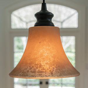 "Instant Pendant Light with 8"" Scavo Glass Shade - Worth Home Products"