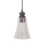 Load image into Gallery viewer, Instant Pendant Light with Clear Fluted Cone Glass Shade - Worth Home Products