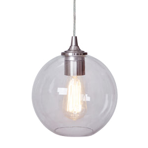 Instant Pendant Light with Clear Glass Open Globe Shade - Worth Home Products
