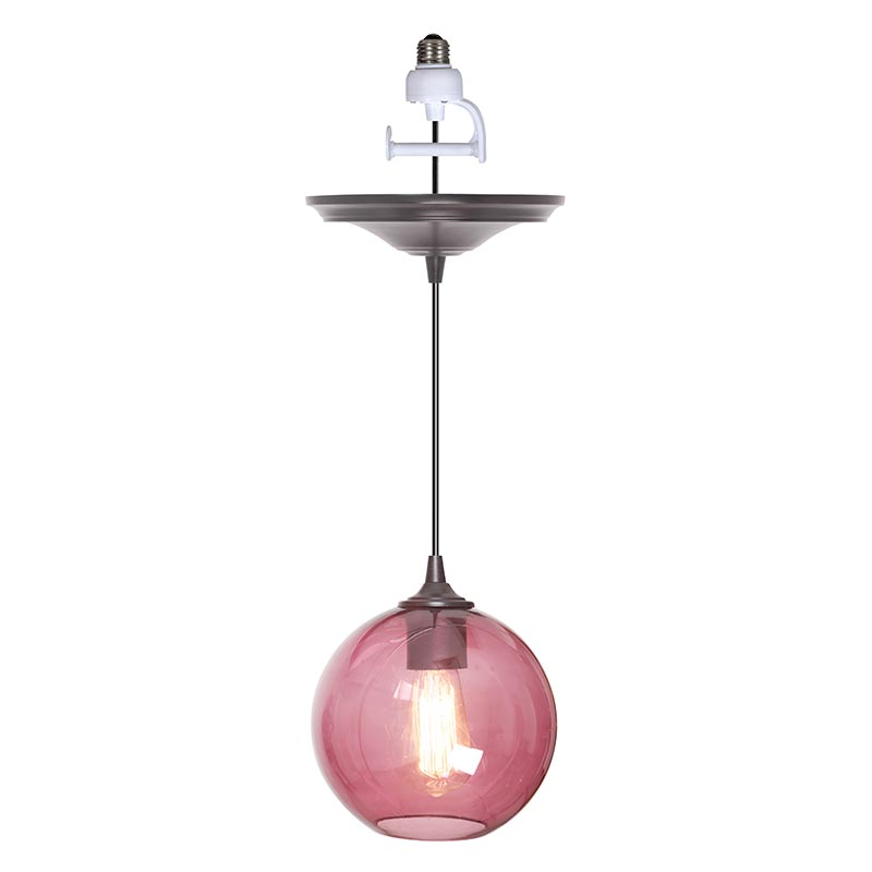 Instant Pendant Light with Round Glass Shade PBN-3528-1000 - Worth Home Products