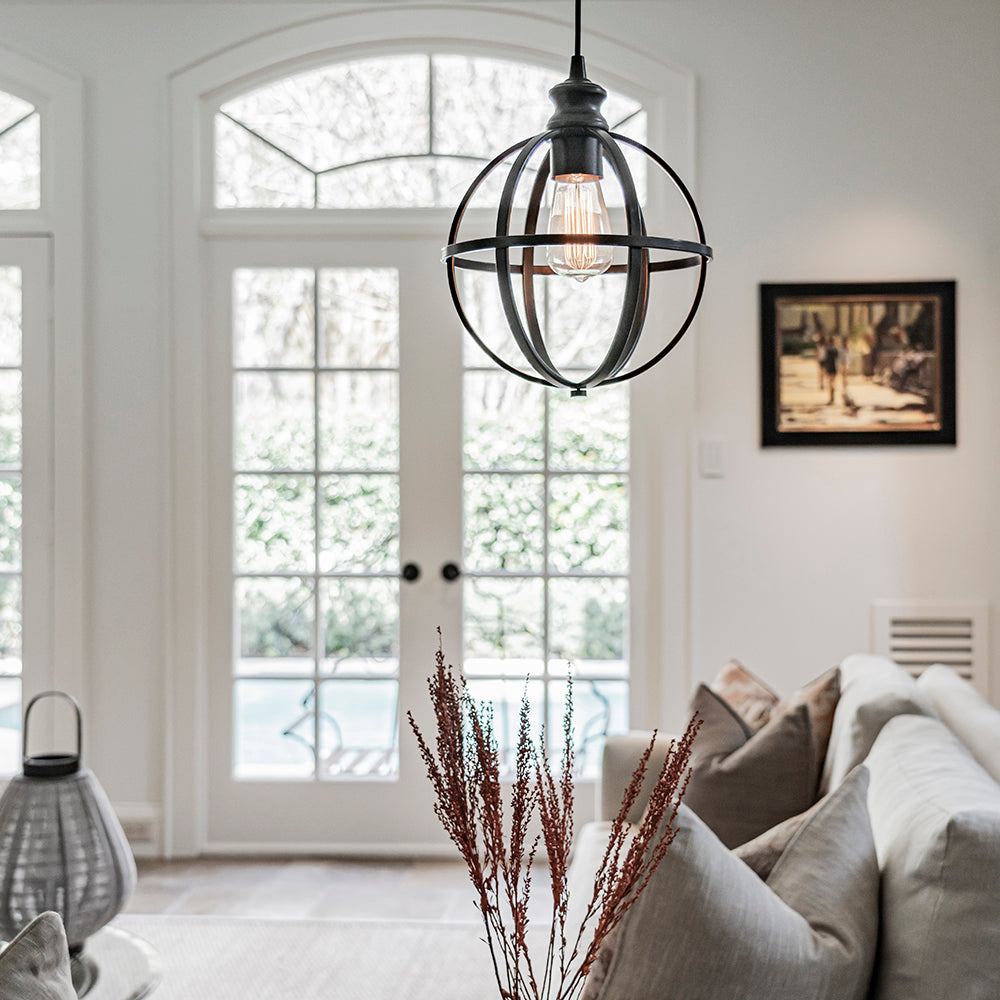 Instant Pendant Light Bronze Cage Shade - Worth Home Products -PBN-4034-0011 - Worth Home Products